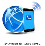 global connection phone cell... | Shutterstock . vector #659145952