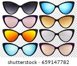 sunglasses set. trendy glasses... | Shutterstock .eps vector #659147782