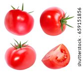 tomato isolated on white... | Shutterstock . vector #659151856