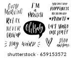 lettering photography overlay... | Shutterstock .eps vector #659153572