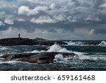 Stormy Waves  Crashing On The...