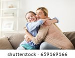 people and family concept  ... | Shutterstock . vector #659169166
