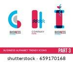 trendy alphabet icon set....   Shutterstock .eps vector #659170168