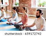 fitness  yoga and healthy... | Shutterstock . vector #659172742