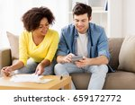 family budget  savings and... | Shutterstock . vector #659172772