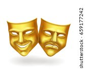 theater masks  gold icons... | Shutterstock .eps vector #659177242