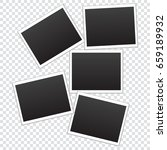 set of frames for photos on a... | Shutterstock .eps vector #659189932