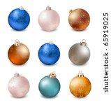 xmas balls   Shutterstock .eps vector #65919025