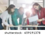 blurred business background... | Shutterstock . vector #659191378