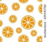 seamless pattern in citrus... | Shutterstock .eps vector #659192782