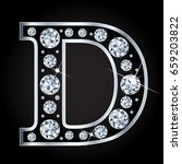 d vector letter made with... | Shutterstock .eps vector #659203822
