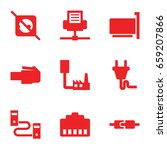 adapter icons set. set of 9... | Shutterstock .eps vector #659207866