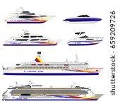 different ships. set | Shutterstock .eps vector #659209726