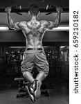 muscular athletic bodybuilder... | Shutterstock . vector #659210182