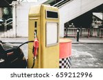 vintage petrol pump filling...   Shutterstock . vector #659212996