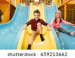 kids riding from childrens... | Shutterstock . vector #659213662