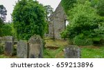 Derelict Country Graveyard Wit...