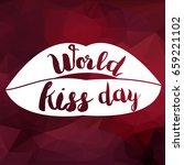 world kiss day promotion banner ... | Shutterstock .eps vector #659221102