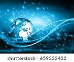 best internet concept. globe ... | Shutterstock . vector #659222422