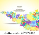 abstract colorful wavy flowers... | Shutterstock .eps vector #659229382