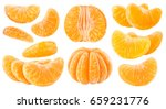 isolated citrus segments.... | Shutterstock . vector #659231776