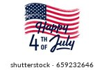 4 th of july independence day.... | Shutterstock .eps vector #659232646