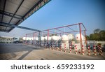 lpg transferring truck was... | Shutterstock . vector #659233192
