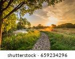 Dutch Polder Landscape With...