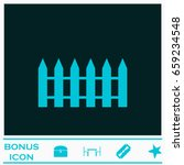 fence icon flat. blue pictogram ... | Shutterstock .eps vector #659234548