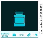 jar icon flat. blue pictogram... | Shutterstock .eps vector #659240122