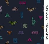 seamless pattern with color...   Shutterstock .eps vector #659245342