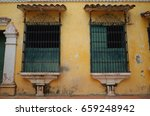 Small photo of Old windows in Mompox, Colombia