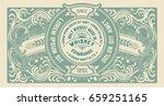 old  label design for whiskey... | Shutterstock .eps vector #659251165