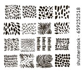 set of vector ink texture... | Shutterstock .eps vector #659252518