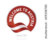 welcome to austria flag red... | Shutterstock .eps vector #659258785