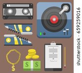 hip hop accessory musician with ... | Shutterstock .eps vector #659259016