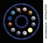 planets of astrology  realistic ... | Shutterstock .eps vector #659263705