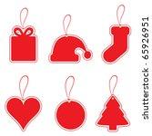christmas label set | Shutterstock .eps vector #65926951