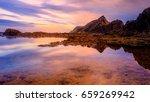 small lake in the ocean. ocean... | Shutterstock . vector #659269942