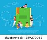 e book concept vector... | Shutterstock .eps vector #659270056