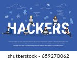 hackers vector concept of young ... | Shutterstock .eps vector #659270062