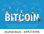 bitcoin concept vector... | Shutterstock .eps vector #659273596