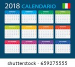 calendar 2018   italian version ... | Shutterstock .eps vector #659275555