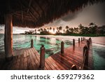 beautiful view toward tropical... | Shutterstock . vector #659279362