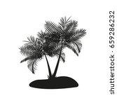 desert island isolated... | Shutterstock .eps vector #659286232