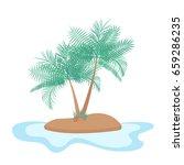 desert island isolated... | Shutterstock .eps vector #659286235