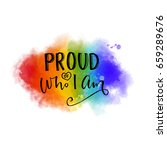proud of who i am. inspiration... | Shutterstock .eps vector #659289676