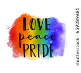 love  peace  pride. gay parade... | Shutterstock .eps vector #659289685