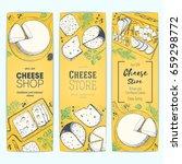 cheese top view  vertical... | Shutterstock .eps vector #659298772