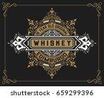 vintage label for whiskey... | Shutterstock .eps vector #659299396